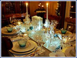 snowflake table top decorations christmas tablescape