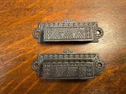 how to clean drawer pulls 1x pair of antique cast iron eastlake drawer pulls