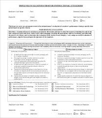 employee evaluation form template 10 free word pdf documents