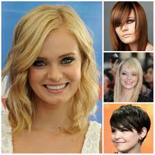 stunning best haircut for round face about newest haircut the