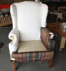 How To Reupholster A Wingback Armchair How To De Upholster A Wingback Chair Modhomeec