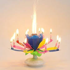 lotus birthday candle musical candle flower lotus blossom happy birthday candle party