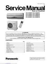 panasonic csc24bkp split a c system manuals