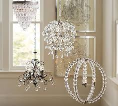 How To Clean Crystals On Chandelier Bella Crystal Round Chandelier Pottery Barn