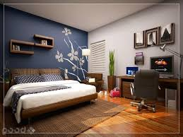 bedroom wall paint ideas cool bedroom with skylight blue accent