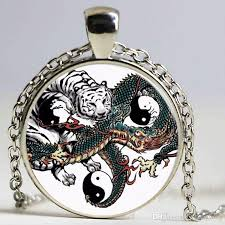 dragon key necklace images Wholesale fashion necklaces chinese style dragon tiger pendant jpg