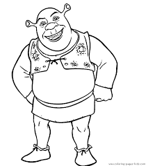 shrek color coloring pages kids cartoon characters