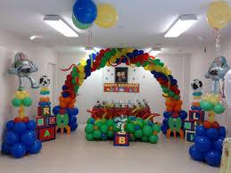 cool balloon decorations for baby birthday interior design ideas