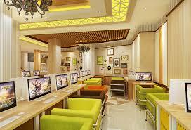 design cyber cafe furniture internet cafe computer table and seat design interior design