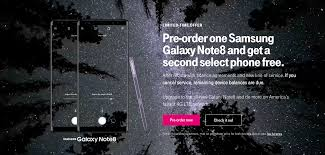 t mobile is offering a buy one get one free sale on the note 8