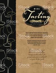wine tasting invitation or menu design template stock vector art