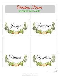 printable place cards christmas printable place cards pinkwhen