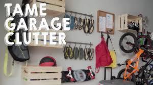 how to organize garage clutter hgtv youtube