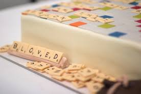 grooms cake wedding cakes scrabble