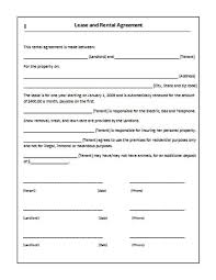 printable sample rent lease agreement form real estate forms