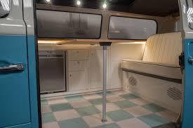 volkswagen old van interior vw t2 bay window camper van custom interior in cream and oak