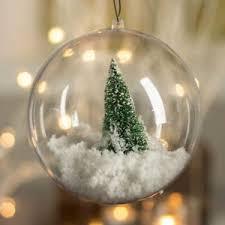10 clear baubles 10cm empty fillable decoration ornament