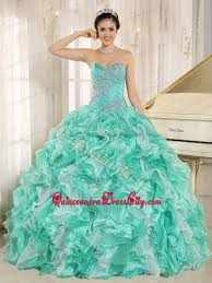 aqua green quinceanera dresses sweetheart beading quinceanera gowns ruffled layers in apple green