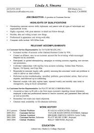 Examples Of Resume Objectives For Customer Service by Download Great Resume Samples Haadyaooverbayresort Com