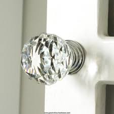Kitchen Cabinet Drawer Pulls by K9 Clear Crystal Knob Chrome Glitter Knob Kitchen Cabinet Knobs