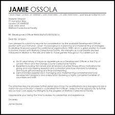 career letter sample development officer cover letter sample livecareer