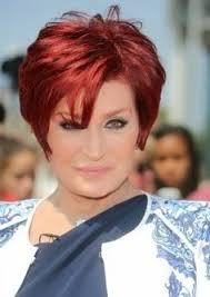 redken sharon osborn red hair color sharon osbourne short hairstyle celebrity hairstyles pinterest