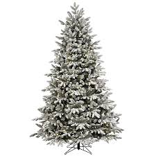 artificial prelit christmas trees shop ge 7 5 ft pre lit alaskan fir flocked artificial christmas