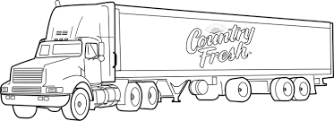 coloring pages of trucks and pictures of truck and trailer