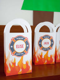 personalized party favor bags diy personalized firefighter printable favor bags for a fireman