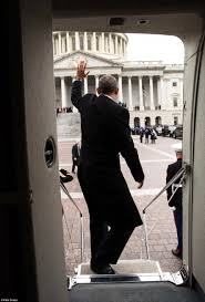 obama flies off from dc with blast at his successor trump daily