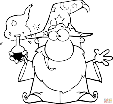 wizard magic wand coloring page free printable coloring pages