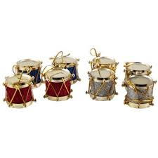 ornament aim small drum 8 pack ornaments decorations