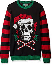 mens light up ugly christmas sweater ugly christmas sweater men s light up santa scull sweater black xl
