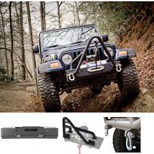 xhdspkg front xhd winch bumper with stinger and d rings 07 15