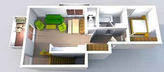 3d floor plans tradition xl top view with flooring and stairs ground floor