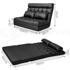 Double Chaise Lounge Sofa by Lounge Sofa Bed Double Size Floor Recliner Folding Chaise Chair