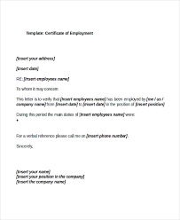 21 sample certificate of employment templates free sample
