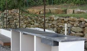 fabriquer cuisine exterieure plan de travail exterieur 2 la cuisine b ton suprab balian beton