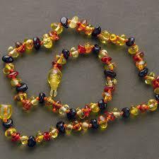 childrens necklace polished honey cherry children s necklace la soiree