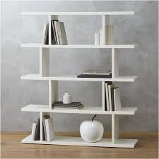 five shelve staggered bookcase