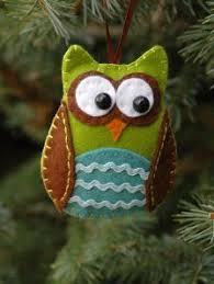 owl ornaments free felt patterns and tutorials ornaments christmas ornaments