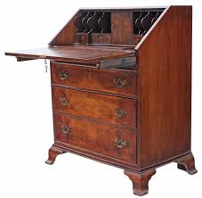 bureau writing desk georgian style revival burr walnut bureau writing desk writing