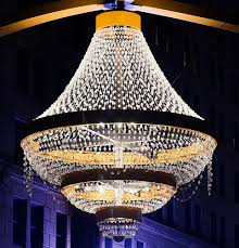 Largest Chandelier World U0027s Largest Outdoor Chandelier Lights Up In Cleveland Team