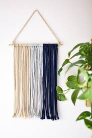 hanging picture an empty wall u0027s best friend diy macramé wall hanging darling