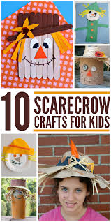 scarecrow crafts for kids halloween a podzim