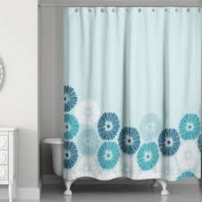 Shower Curtains Bed Bath And Beyond Buy Blue Flower Shower Curtain From Bed Bath U0026 Beyond