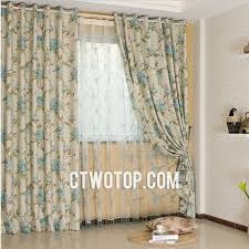 Blue Swag Curtains And Beautiful Swag Beige Country Curtains With Blue Flowers