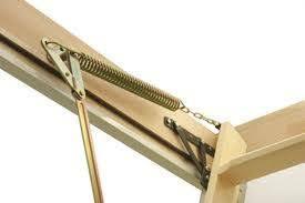 fakro wooden folding loft ladder ltk thermo 3 section 280cm