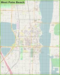 Map Of West Palm Beach Large Detailed Map Of West Palm Beach