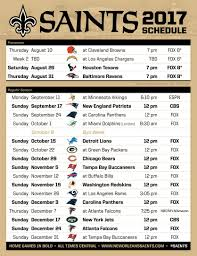 saints 2017 schedule whodat whodat my saints